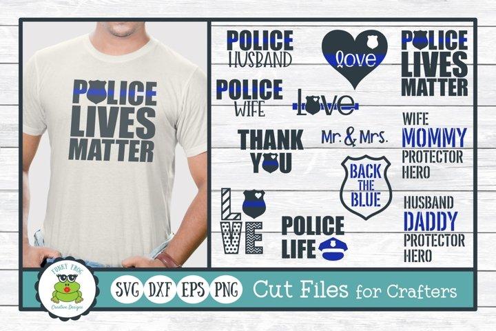 Police Design Bundle, SVG Cut Files for Crafters