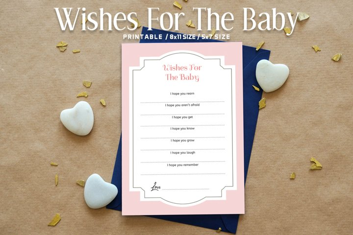 Floral Wishes For The Baby Printable V2
