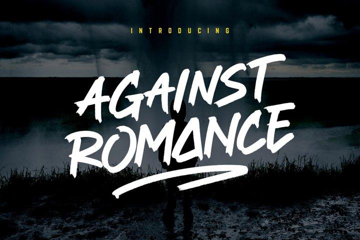 Against Romance Brush Font