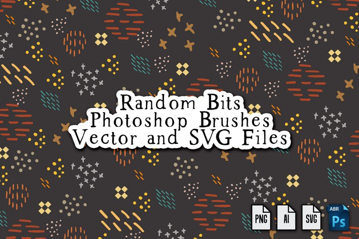 Random Bits Vector, PNG, SVG and Photoshop Brushes