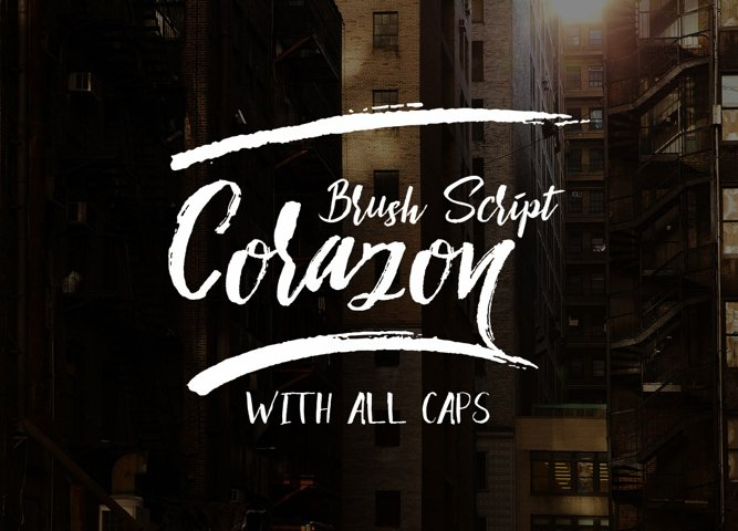 Corazon Brush Script