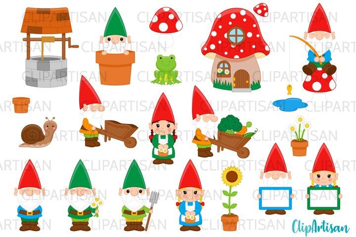 Garden Gnomes Clipart Gnome Dwarves Fairytale PNG JPEG