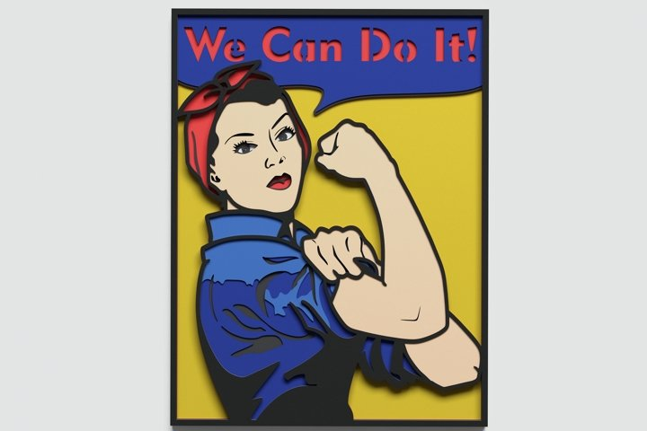 Multilayer We Can Do It Poster svg, Vector file for cutting