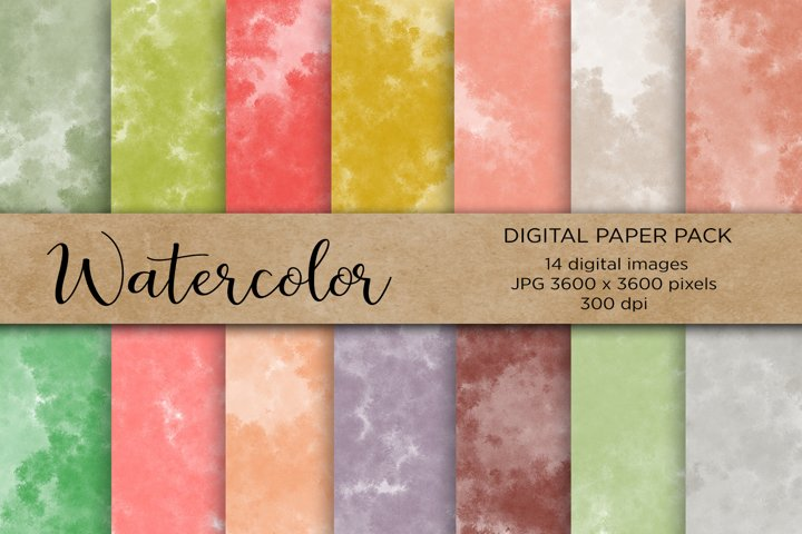 Watercolor Digital Paper,Wedding, Wedding Invitation Papers
