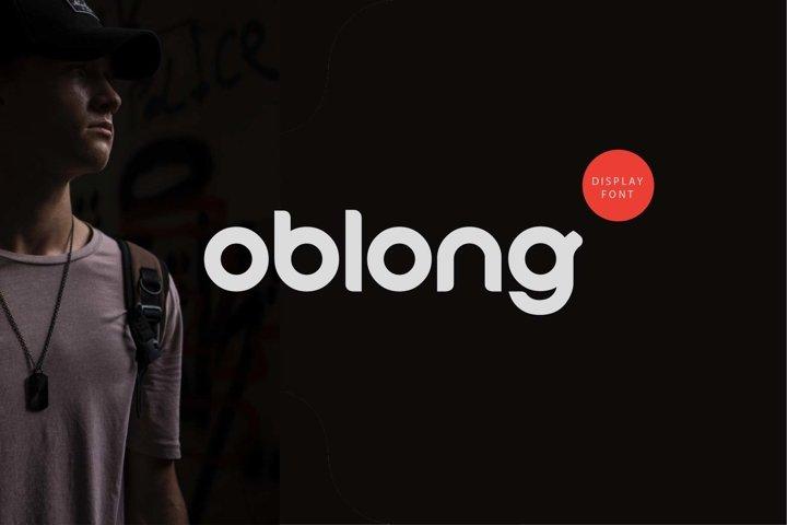 Oblong - logo font rounded modern