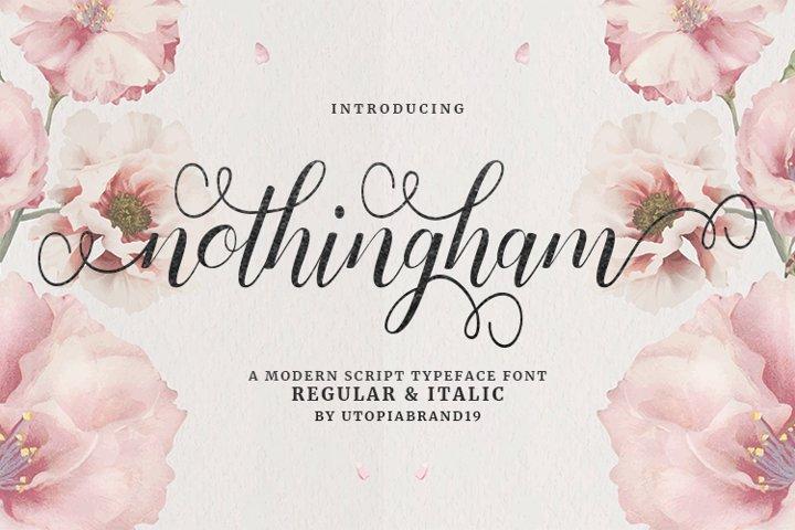 Nothingham Script | Regular & Italic