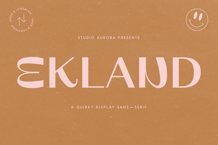 Ekland - Quirky Funky Display Font