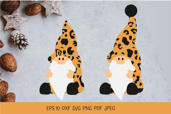 Leopard Gnomes. Gnomes Christmas. Gnome SVG. Gnome PNG