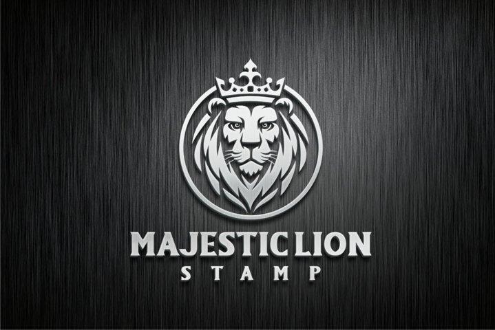 Majestic Lion Stamp