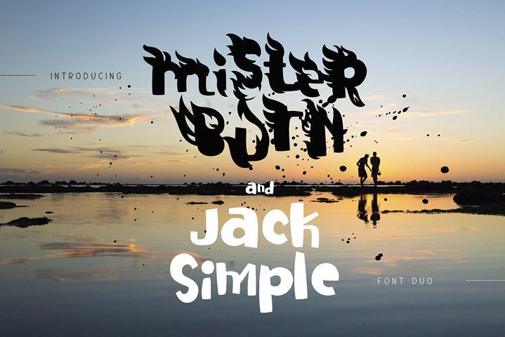 Mister Burn and Jack Simple