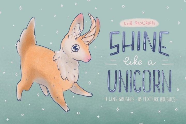 Procreate Brushes Shine Unicorn!