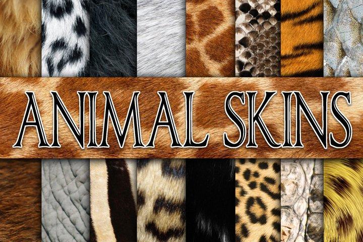 Animal Skin Textures Digital Paper