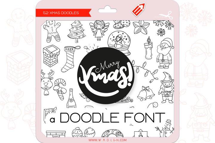 Xmas Doodles - Dingbats Font