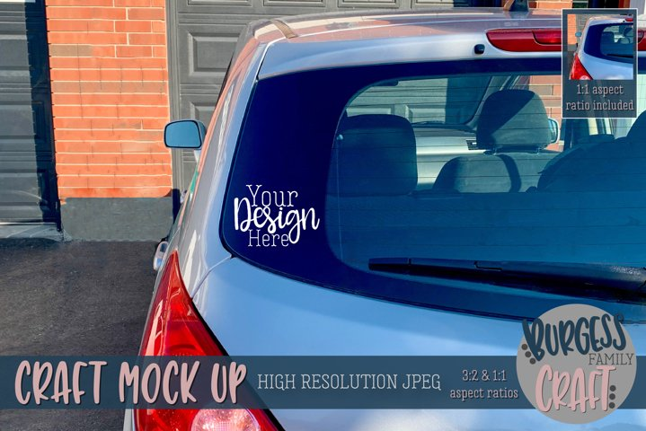 Rear car window II | Craft mock up