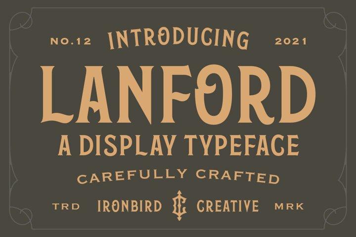 Lanford - Display Typeface