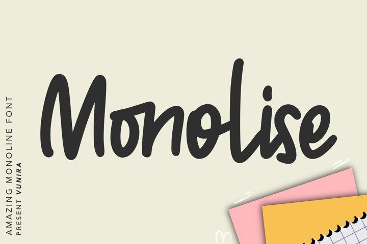 Monolise   Amazing Monoline Font