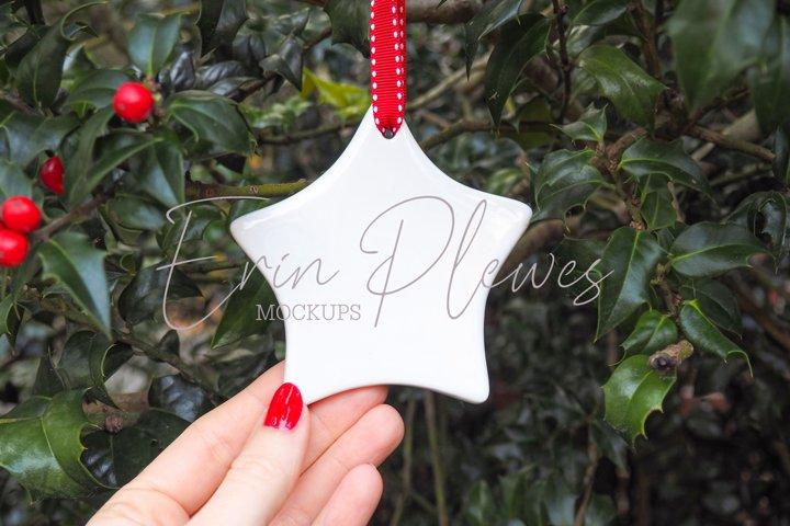 Ornament Mockup| Star Christmas Ornament Mock-up | Mock Jpeg