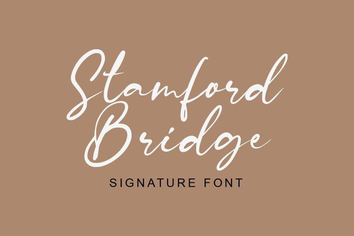 Stamford Bridge Signature Font