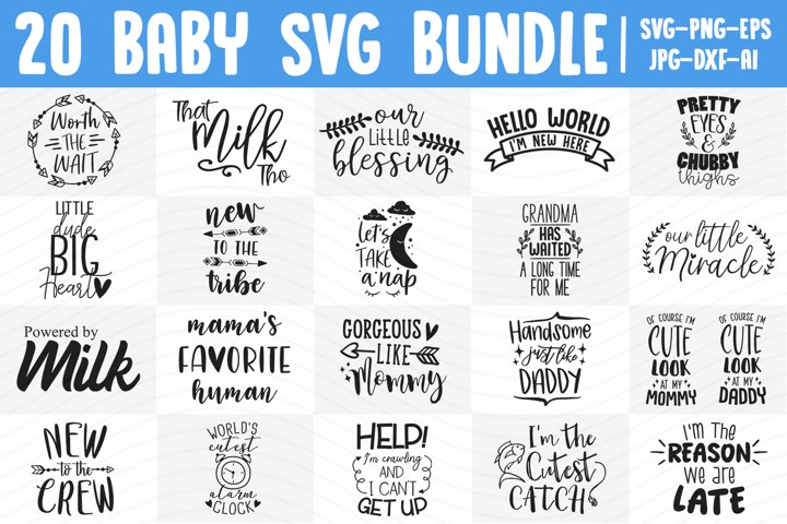 Newborn SVG Bundle - 20 Different Designs