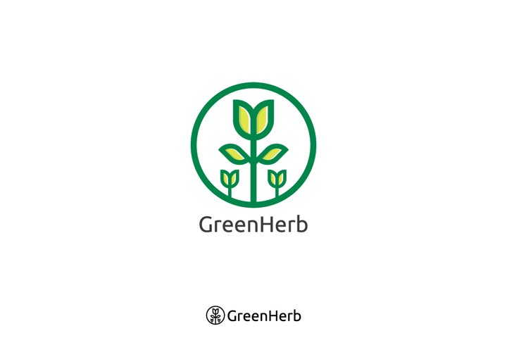 herbal green tree logo