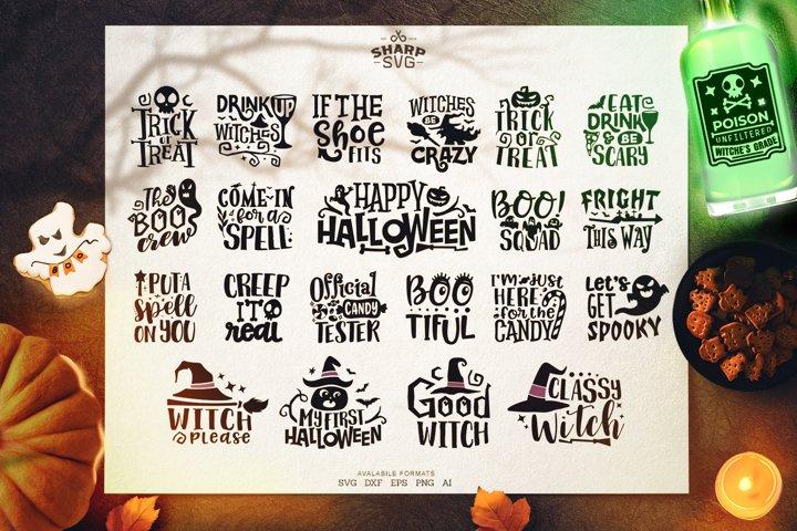 Halloween Sayings SVG Bundle | Halloween Quotes cut files
