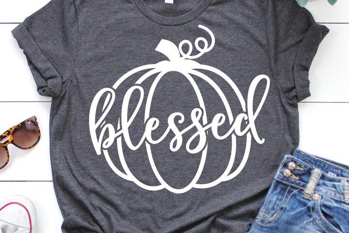 Blessed Pumpkin SVG, DXF, PNG, EPS