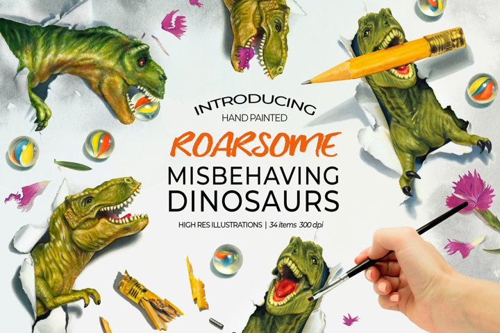 Dinosaurs Misbehaving- RoarsomeT-Rex