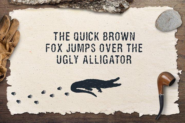 Ugly Alligator - Grunge Typeface - Free Font of The Week Design0
