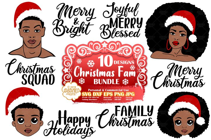 Christmas SVG Bundle | Black Woman SVG Bundle | Black Girl