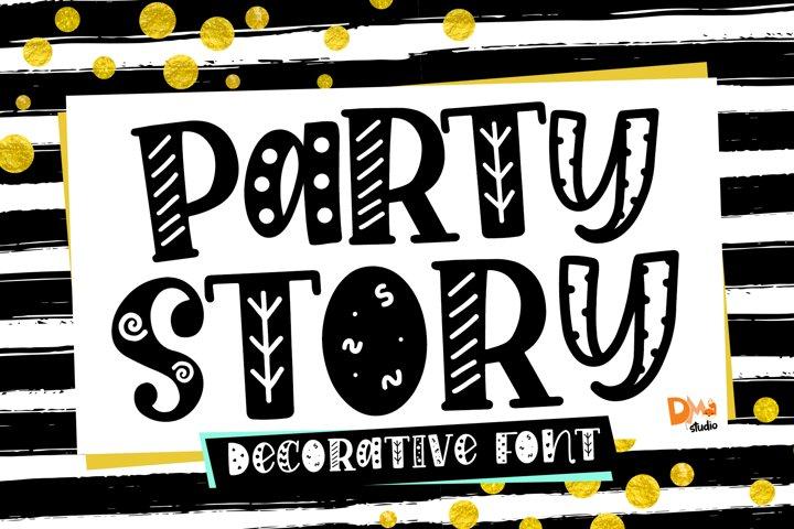 Party Story - Decorative Font