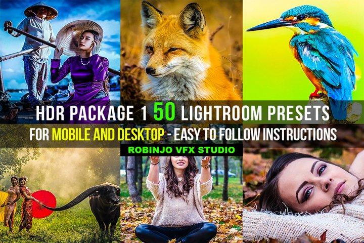 HDR 1 Package 50 Lightroom Presets