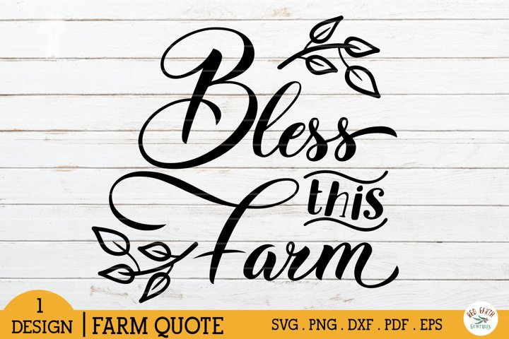 Bless this farm svg,bless this farmhouse sign making svg