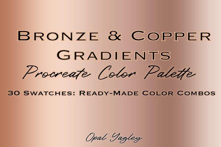 Bronze & Copper Procreate Metallic Color Palette