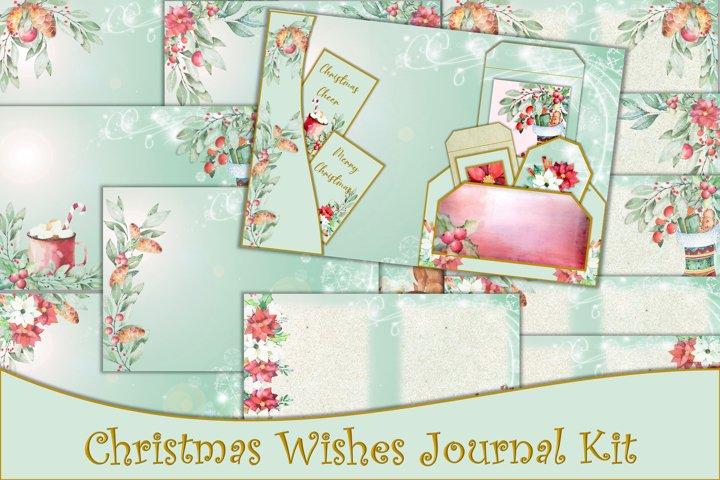 Christmas Journal Kit with free Ephemera JPEG and PNG