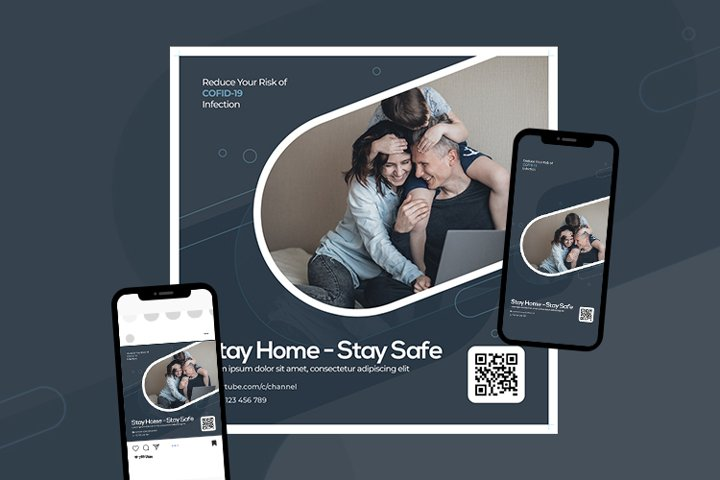Stay Home Stay Safe Flyer Template