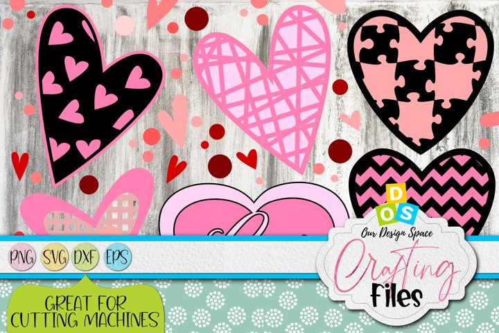 Love Hearts SVG, PNG, DXF and EPS