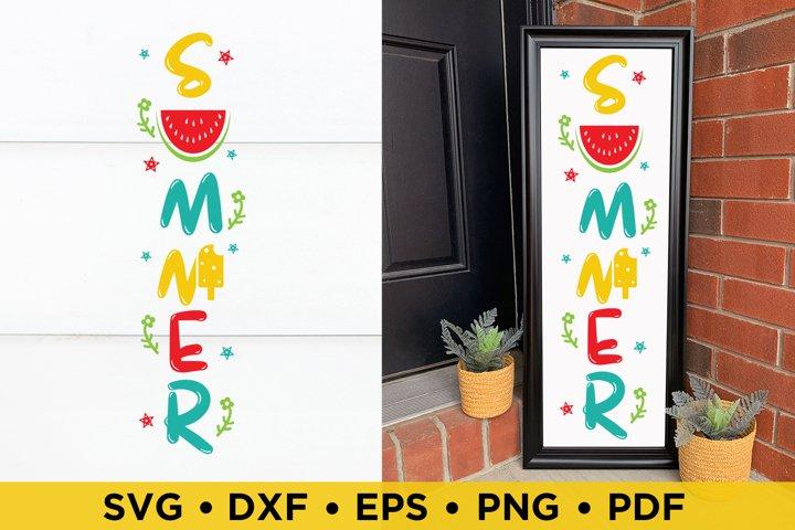 Summer SVG, Summer Porch Sign SVG, DXF, PNG, EPS Cut Files