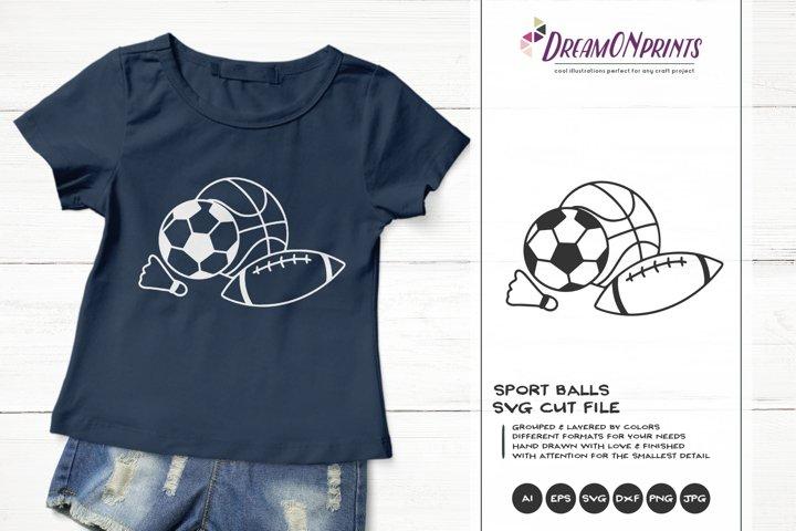 Sport Balls SVG   Football, Basketball, Tennis