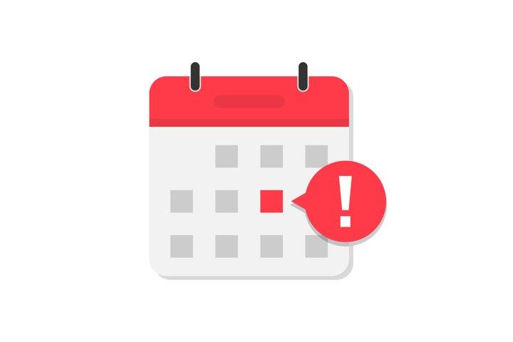 Calendar reminder important event or deadline