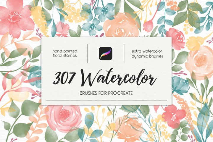 307 Watercolor Brushes For Procreate
