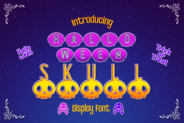 Halloween Skull Display font