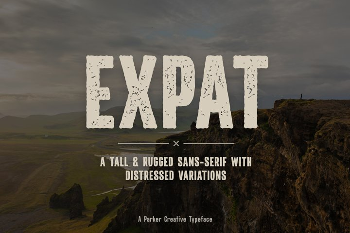 Expat - Tall & Rugged Sans-Serif