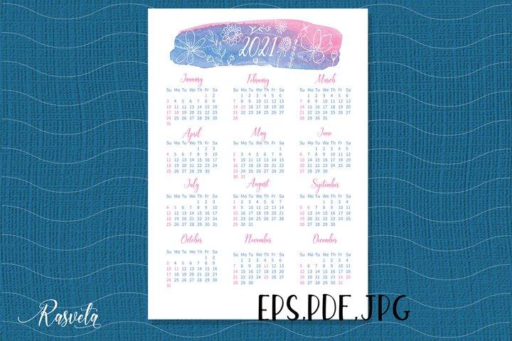 2021 Year Calendar/1