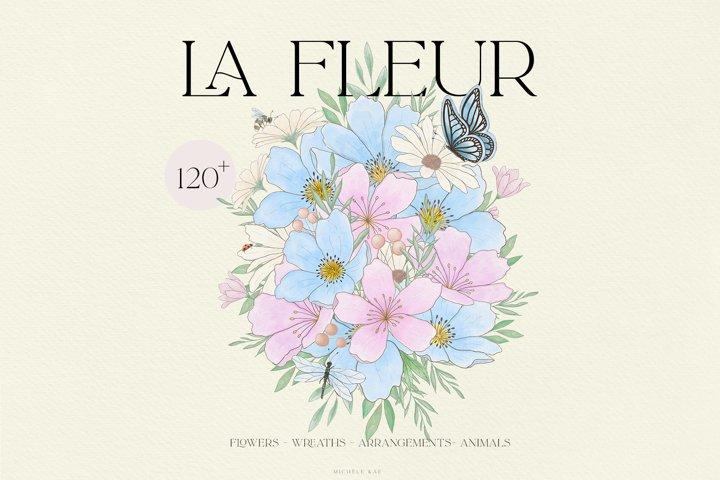 Watercolor flowers, bouquets, arrangement, floral alphabet