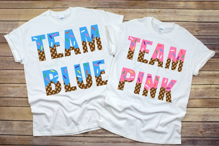 Team Blue or Team Pink SVG, Whats the Scoop Gender Reveal