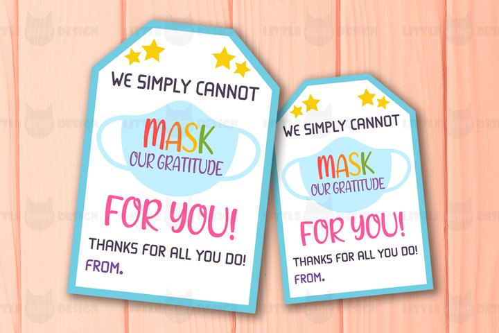 Printable Face Mask Gift Tag, Kindness Note Card Template