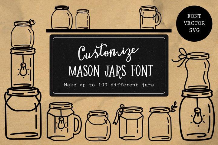 Mason Jar Font and Graphic