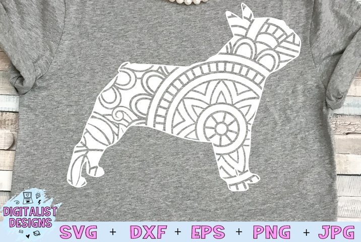 Bulldog SVG   Dog SVG   Mandala SVG