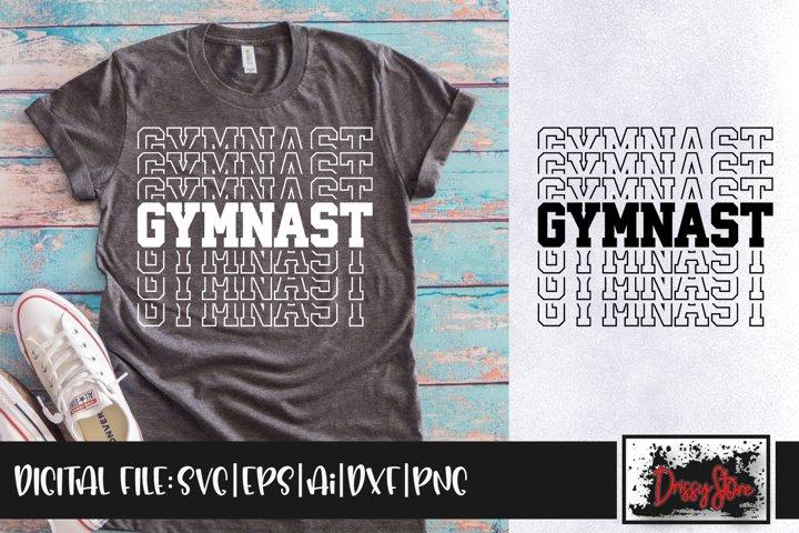 Gymnast SVG DXF Ai EPS PNG