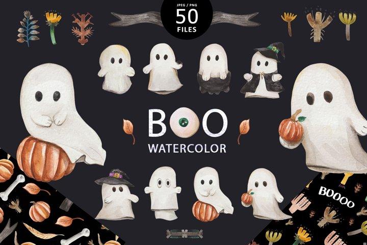 Boo watercolor